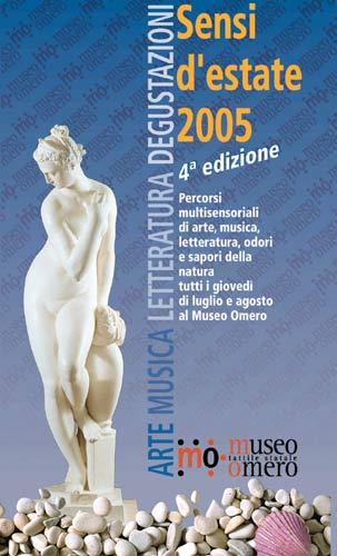 Copertina del depliant Sensi D'Estate 2005