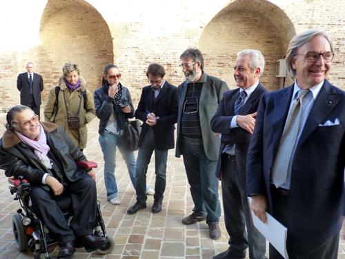 Roberto Farroni alla Mole con Diego Della Valle