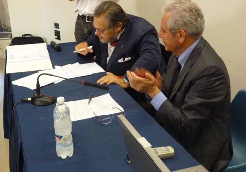 Roberto Farroni e il Sindaco Fiorello Gramillano