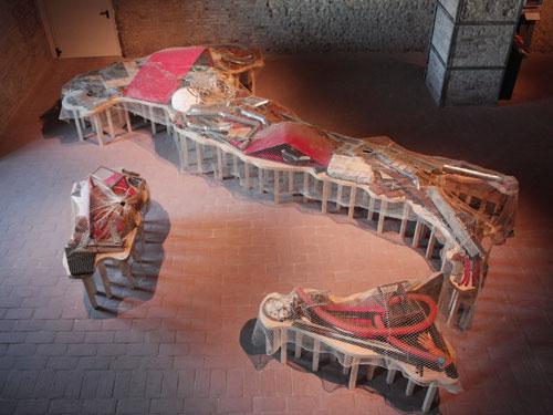 L'Italia riciclata di Michelangelo Pistoletto alla Mole Vanvitelliana di Ancona