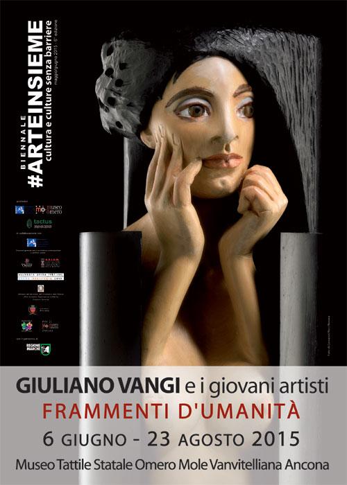 manifesto mostra Frammenti d'umanità vangi e i giovani artisti