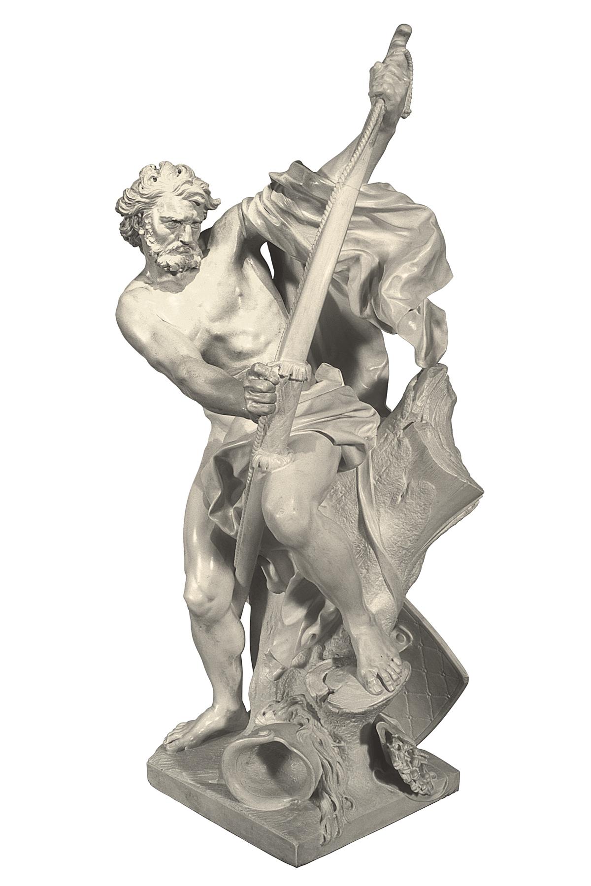 Soldato che tende l'arco (copia in gesso)