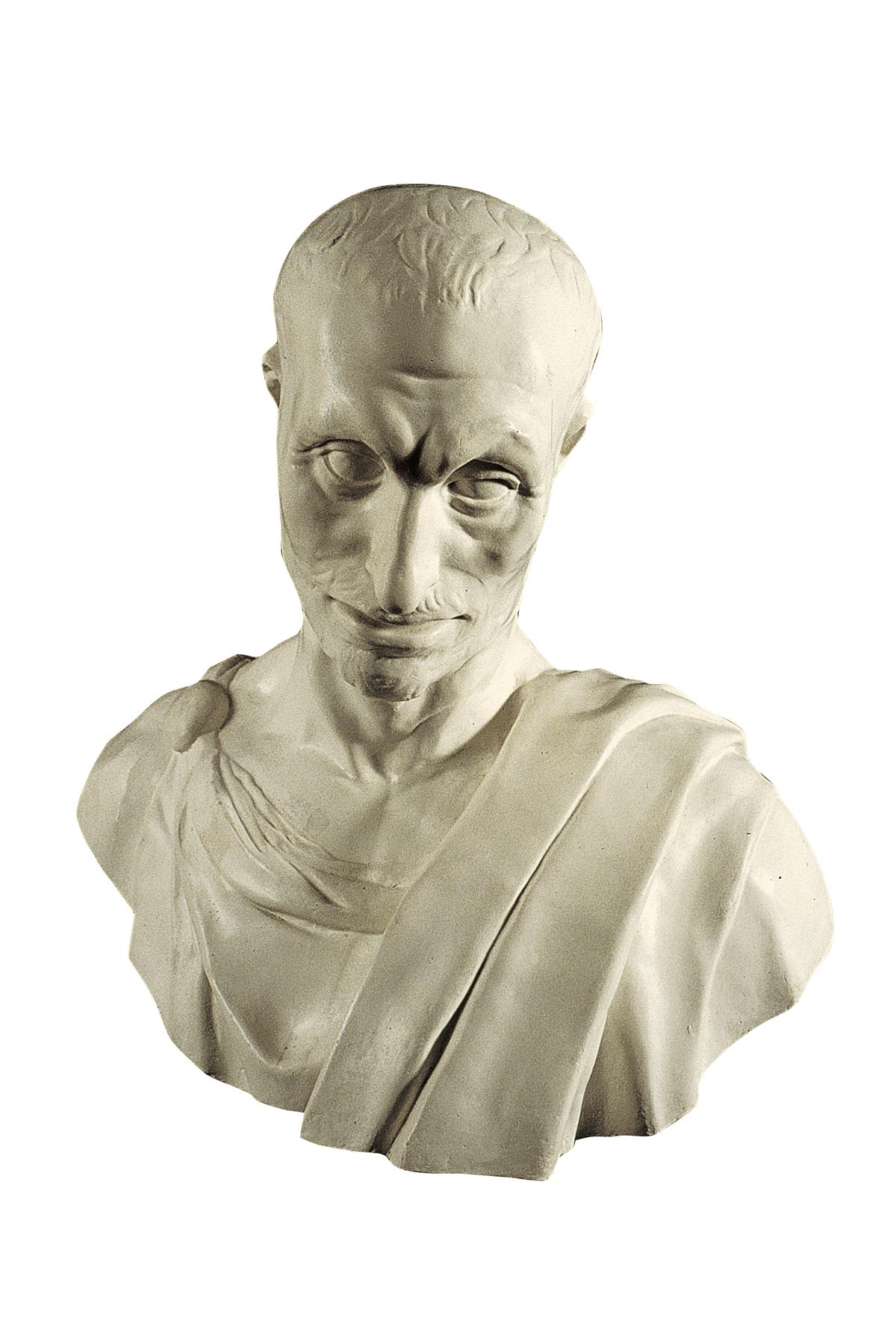 Busto de la profeto Ĥabakuko (muldaĵo el gipso)