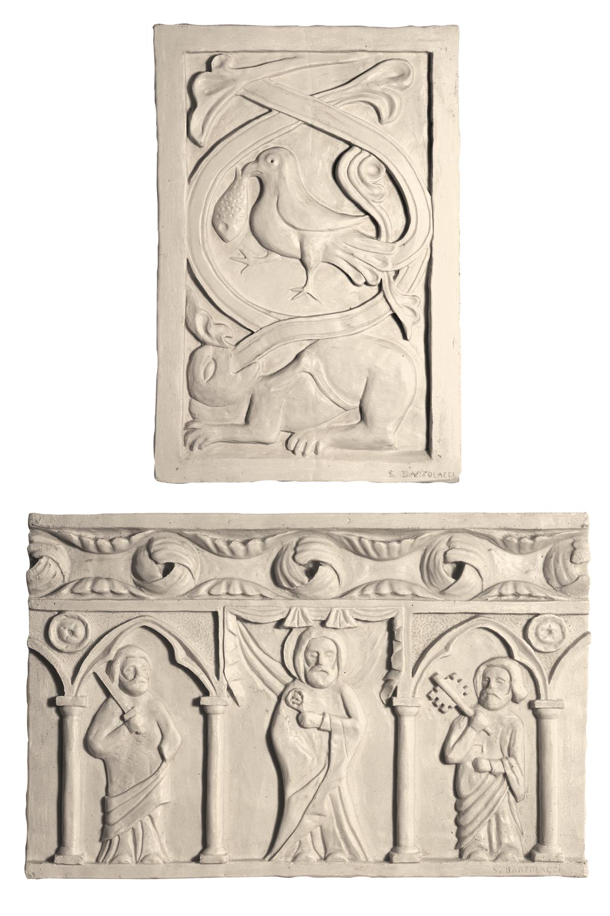 Duomo di Fermo, formelle del portale (copia in gesso)