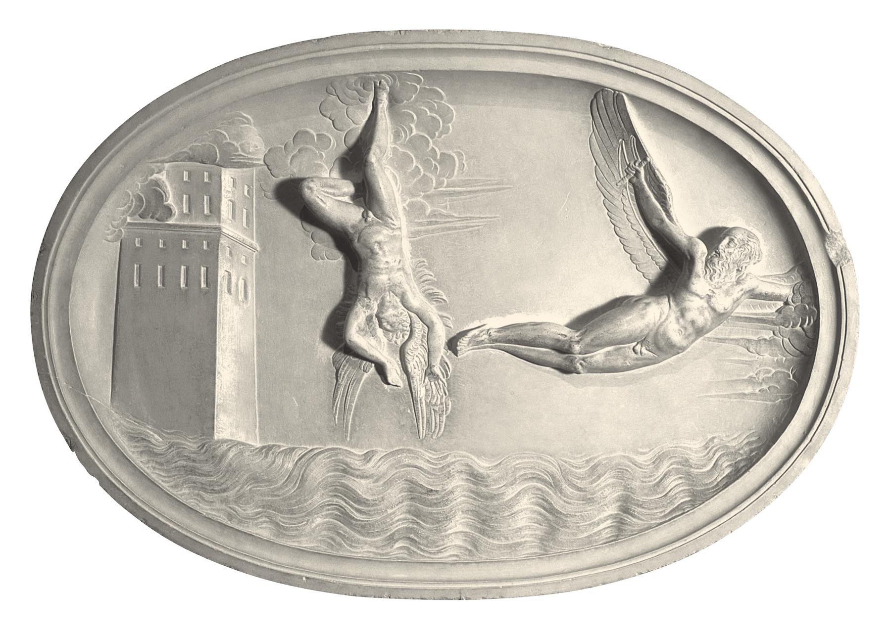 Icaro e Dedalo (scultura in gesso)