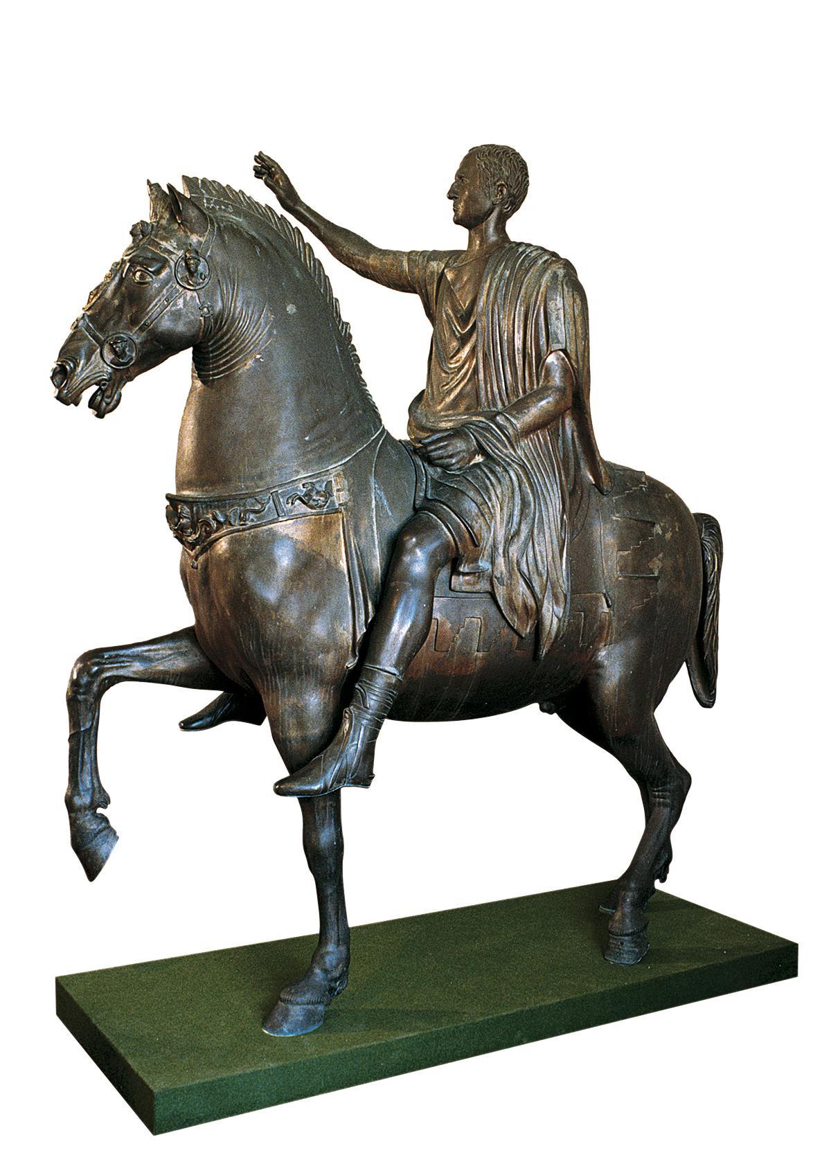 Ritratto equestre, dal gruppo scultoreo da Cartoceto di Pergola (copia in bronzo)