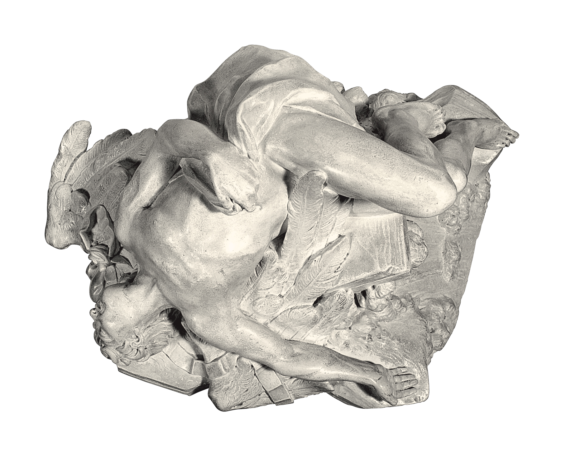 The fall of Icarus (cast in plaster)