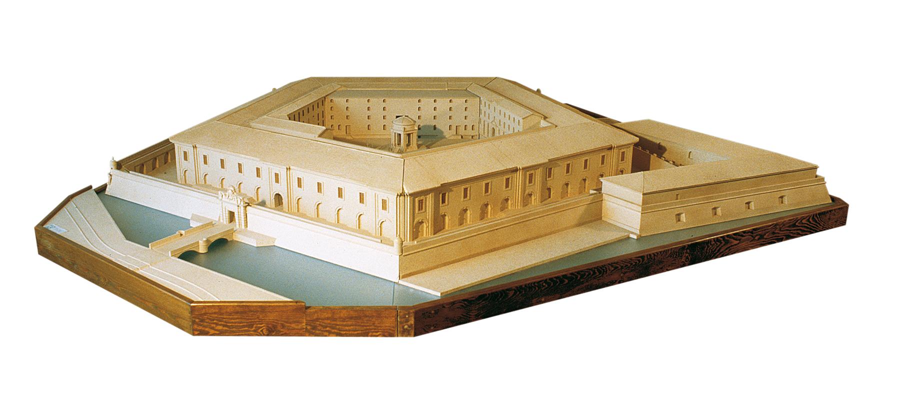 Mole Vanvitelliana, Ex Lazzaretto (modello architettonico)