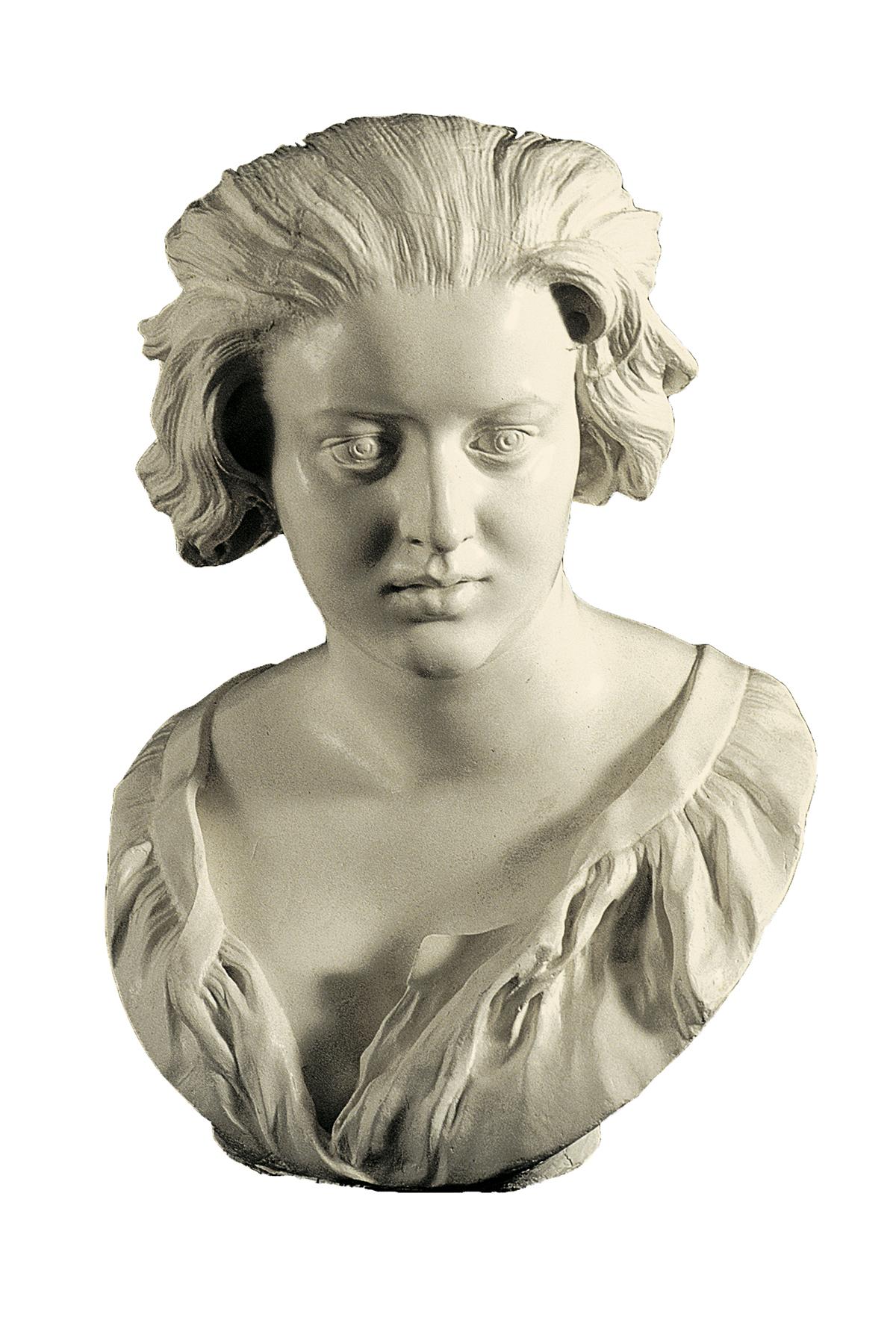 Busto di Costanza Bonarelli (scultura in gesso)