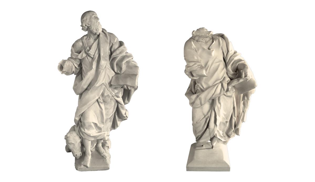Pair of Evangelists, Luke and John