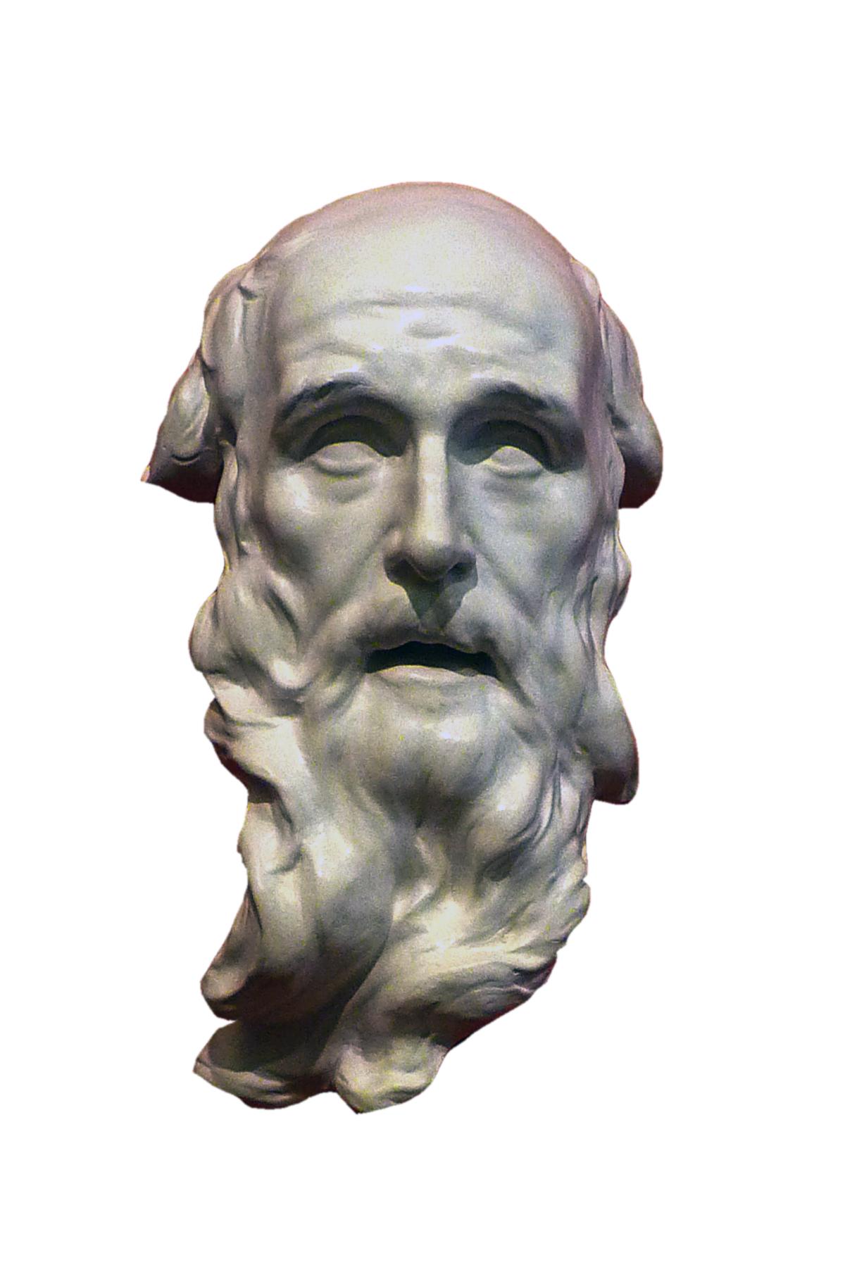 Volto di San Benedetto (scultura in gesso)
