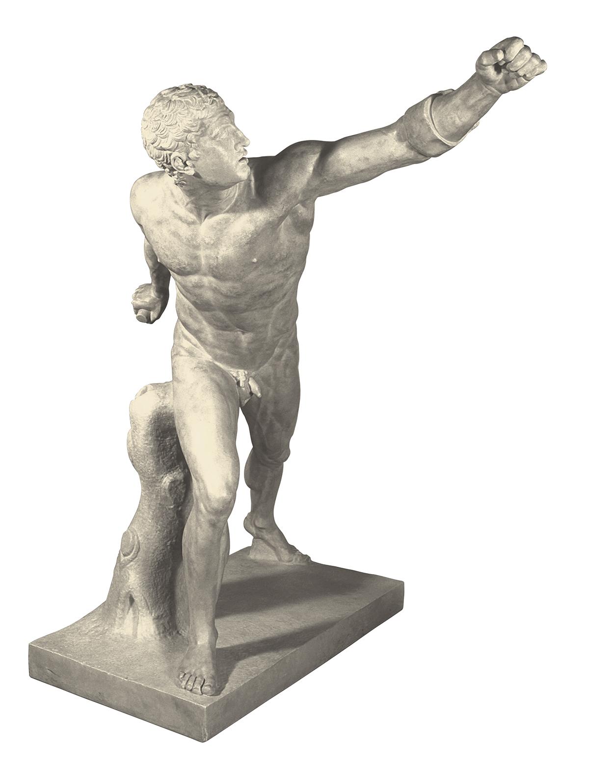 Gladiatore Borghese (scultura in gesso)