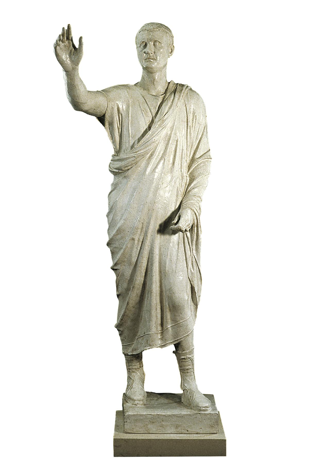 Statua di Aulo Metello (copia in gesso)