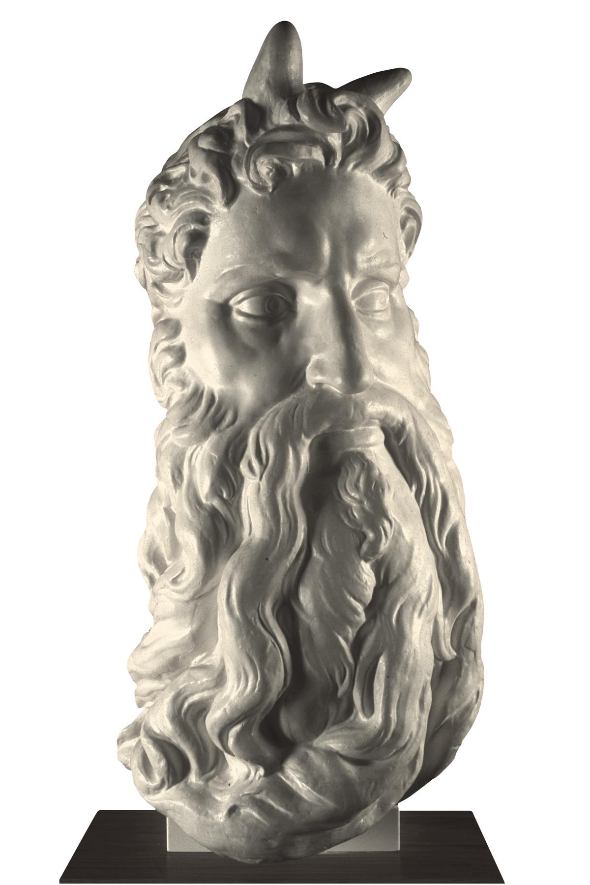 Volto di Mosè (copia in gesso)