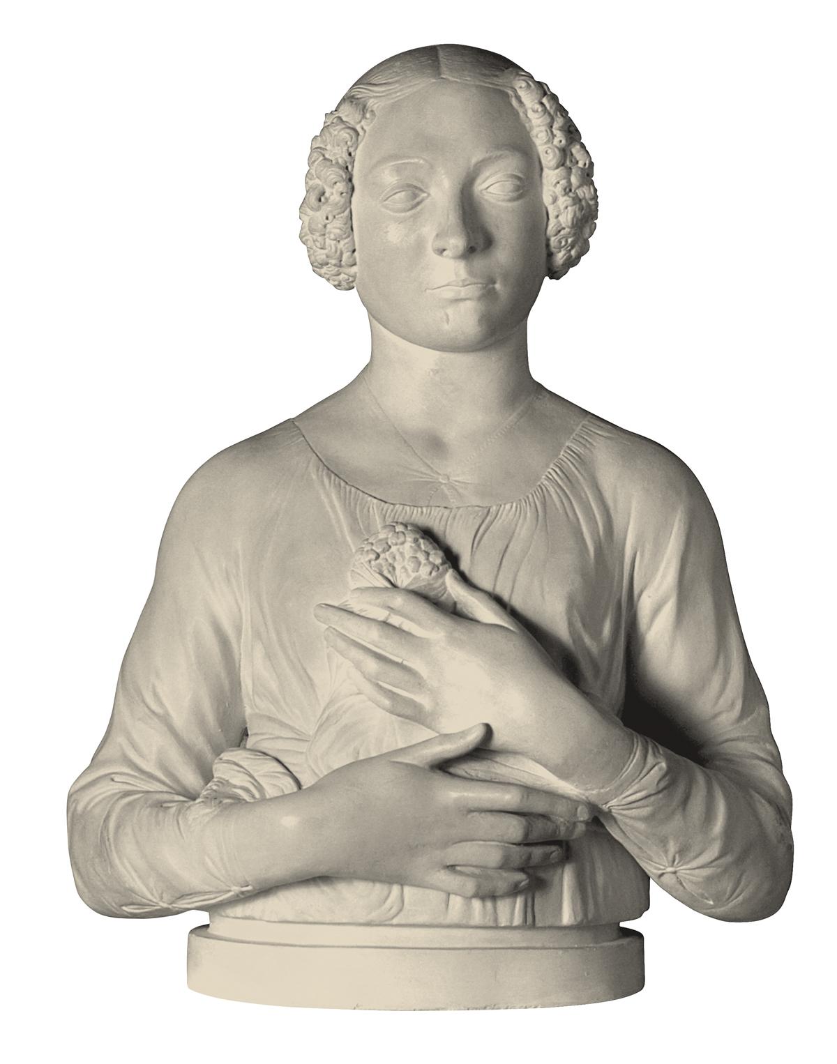 Dama del Mazzolino (copia in gesso)