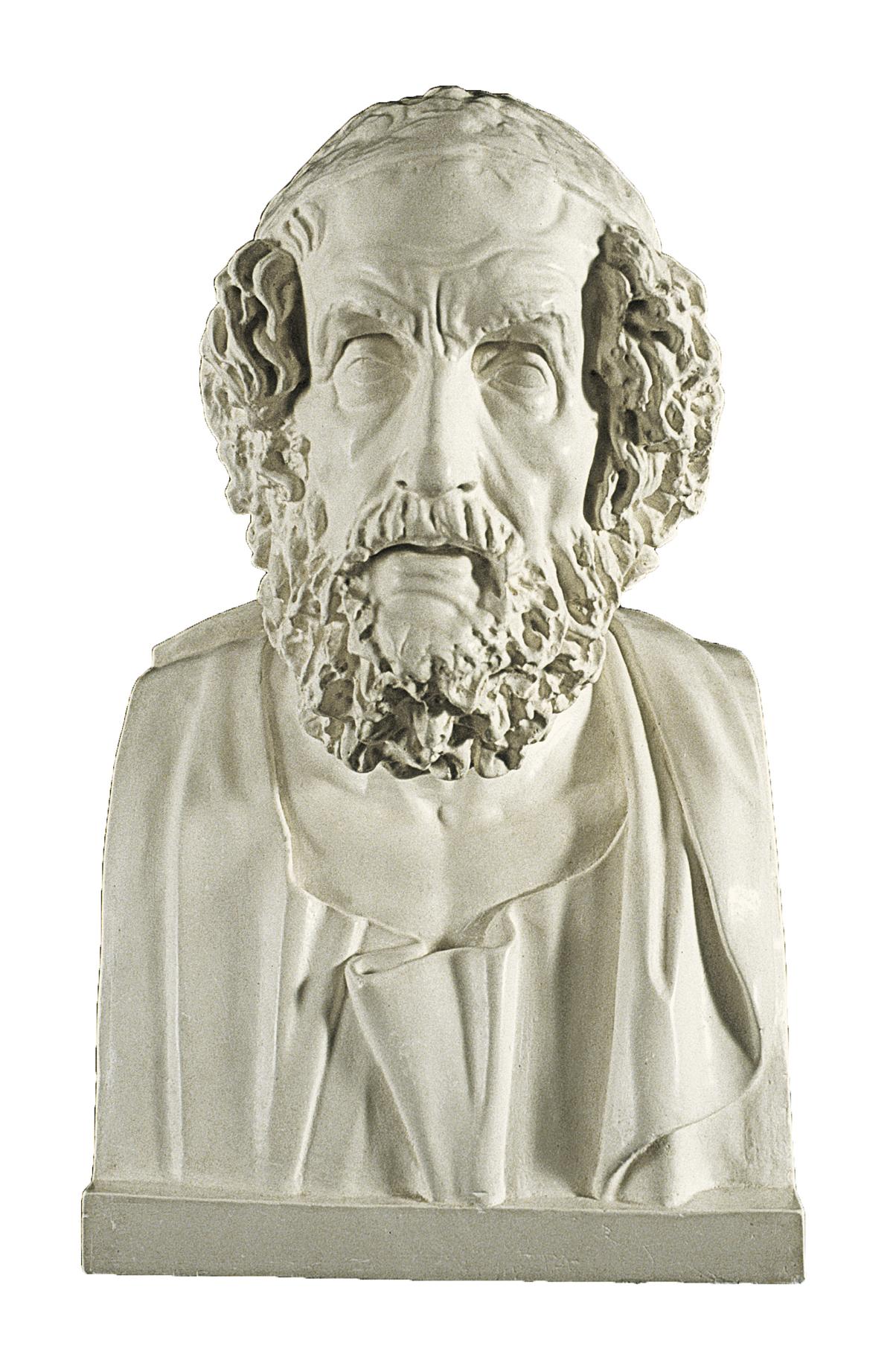 Busto Omero (scultura in gesso)