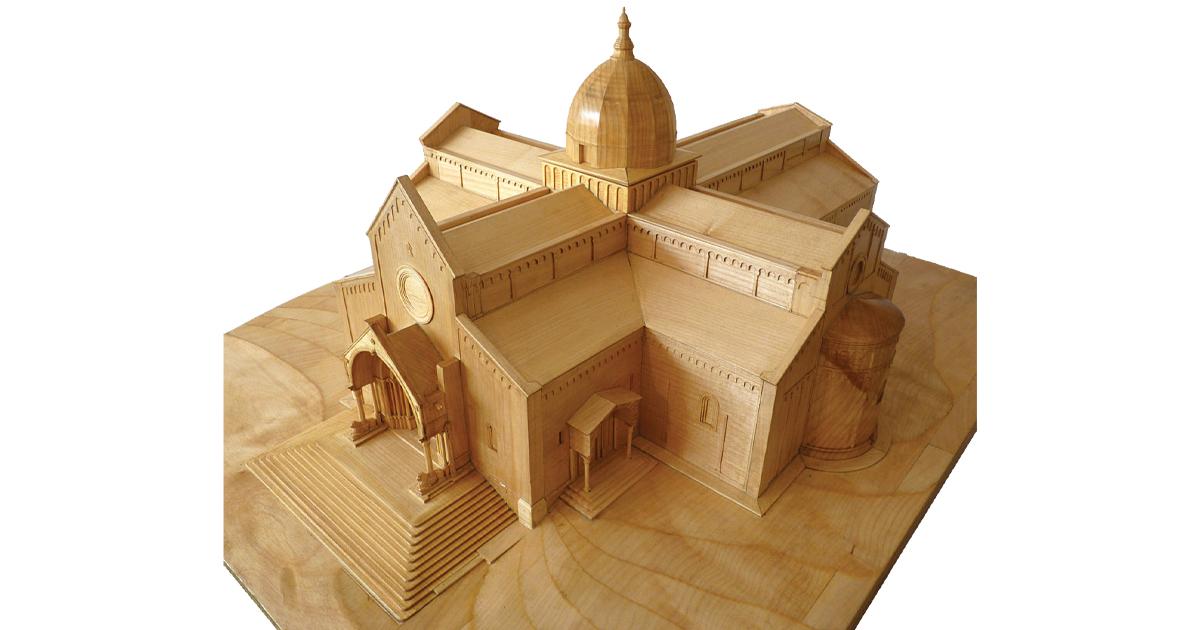 opera Cattedrale San Ciriaco modello volumetrico(modello architettonico)