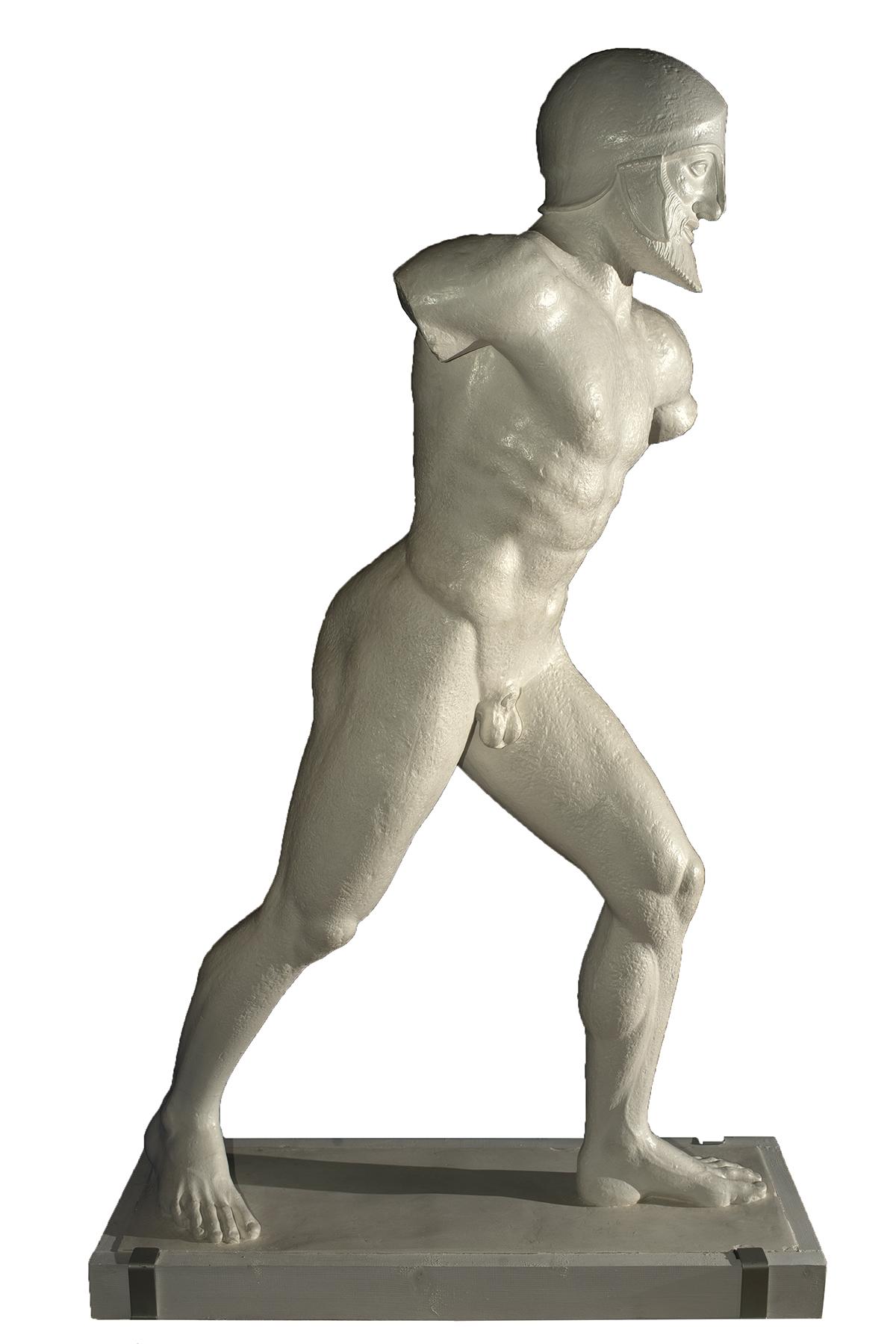 Statua di guerriero (scultura in gesso)