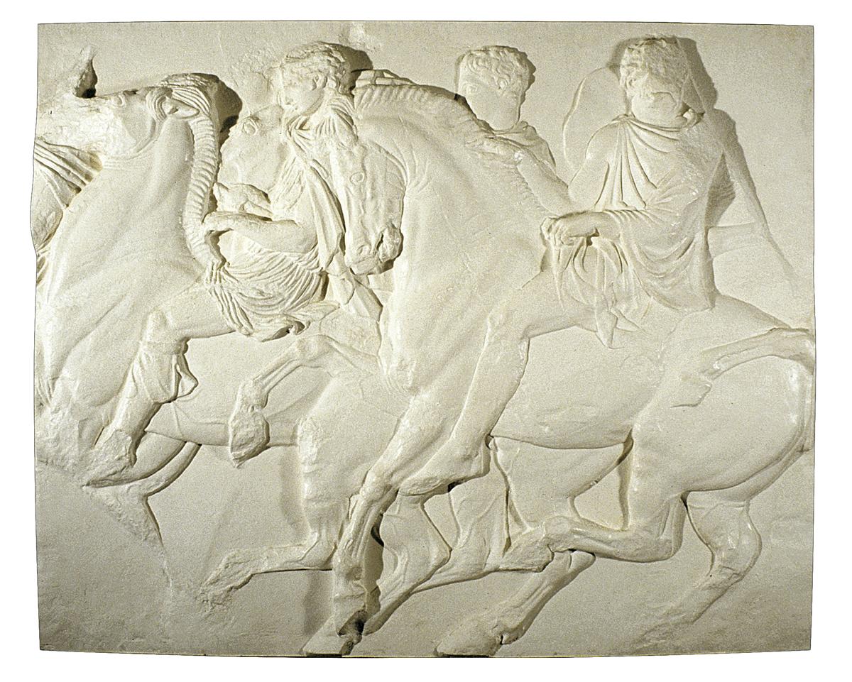 Frammento del fregio del Partenone (scultura in gesso)