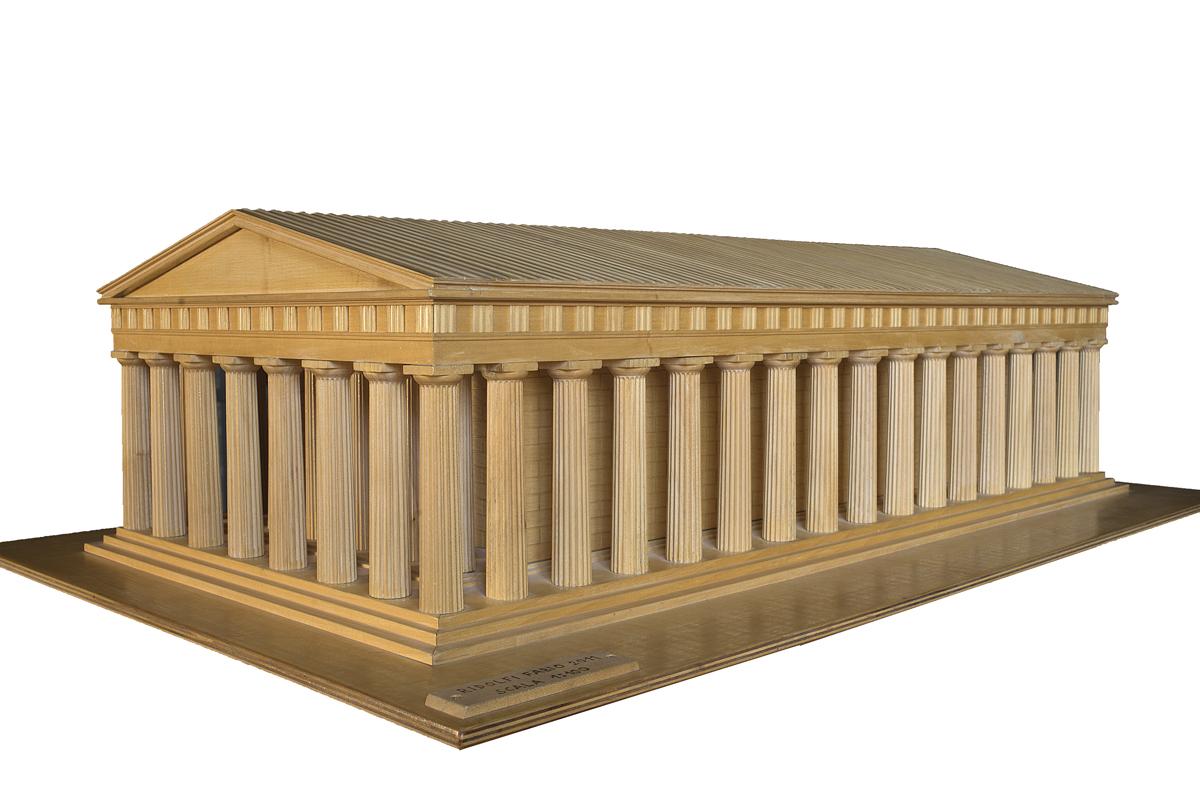 Partenone volumetrico (modello in legno)