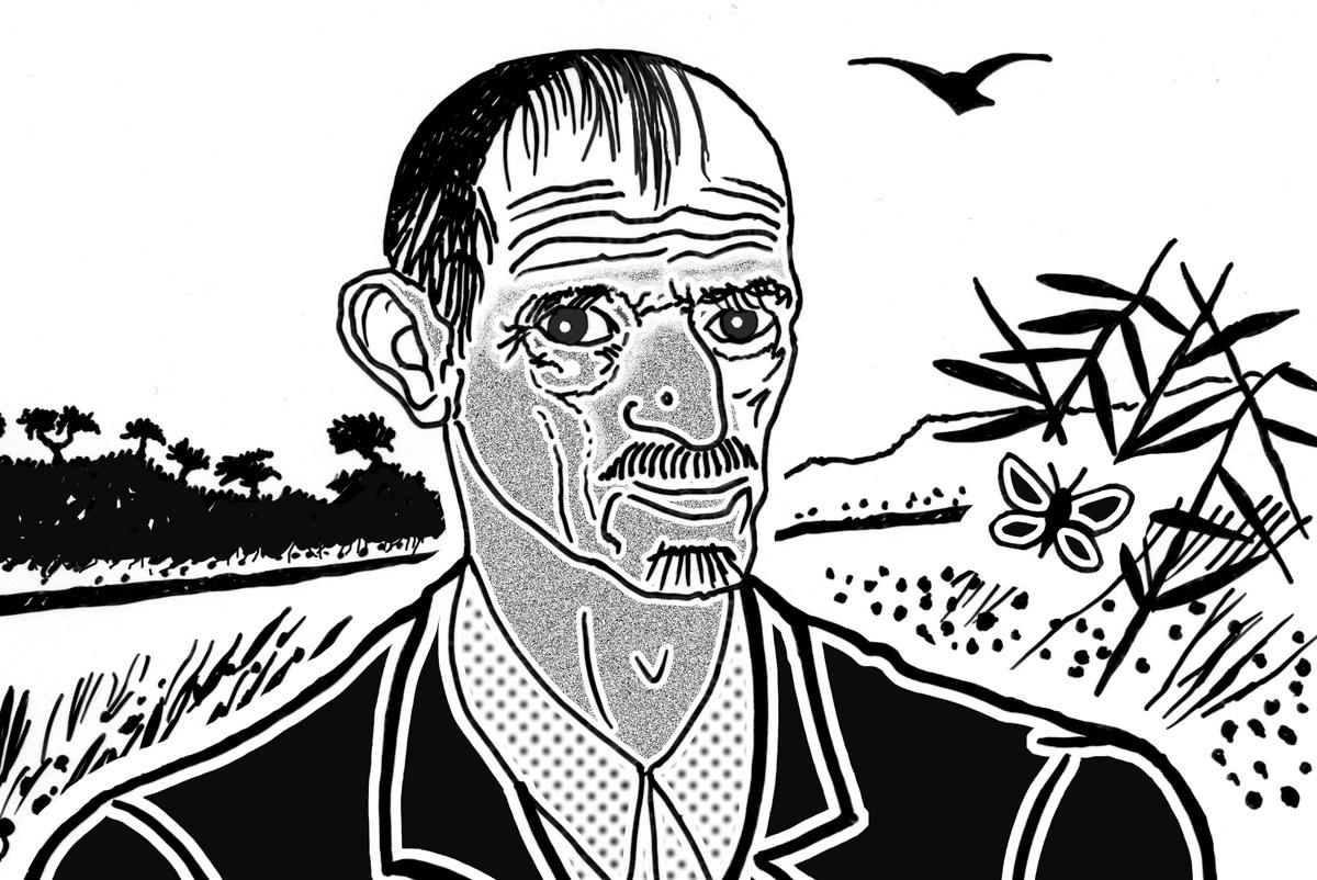 disegno tattile raffigurante Antonio Ligabue