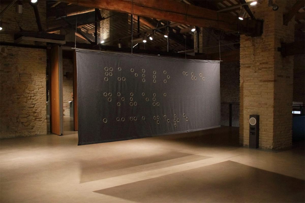 arazzo di Giovanni Gaggia esposto nella sala del Museo Omero