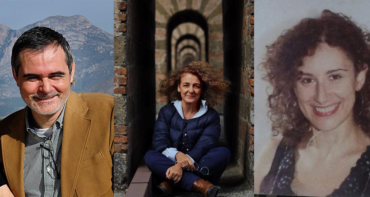 In sequenza il primo piano di Antonio Espinosa, Tiziana Maffei e Maria José Luongo
