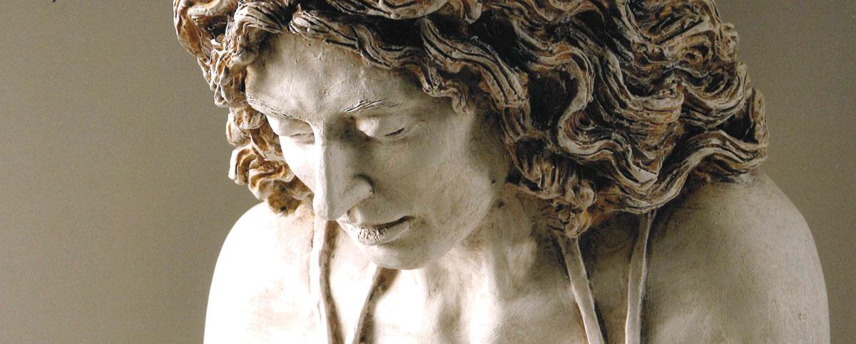 Paolo Annibali, Sibilla, 2014 - terracotta dipinta, cm 103x59x35