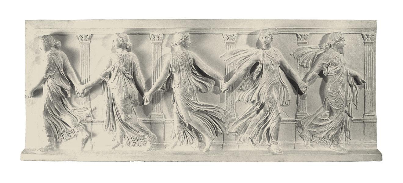 Danzatrici (scultura in gesso)