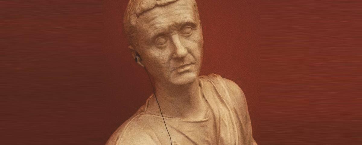 Statua di Aulo Metello con auricola per audioguida