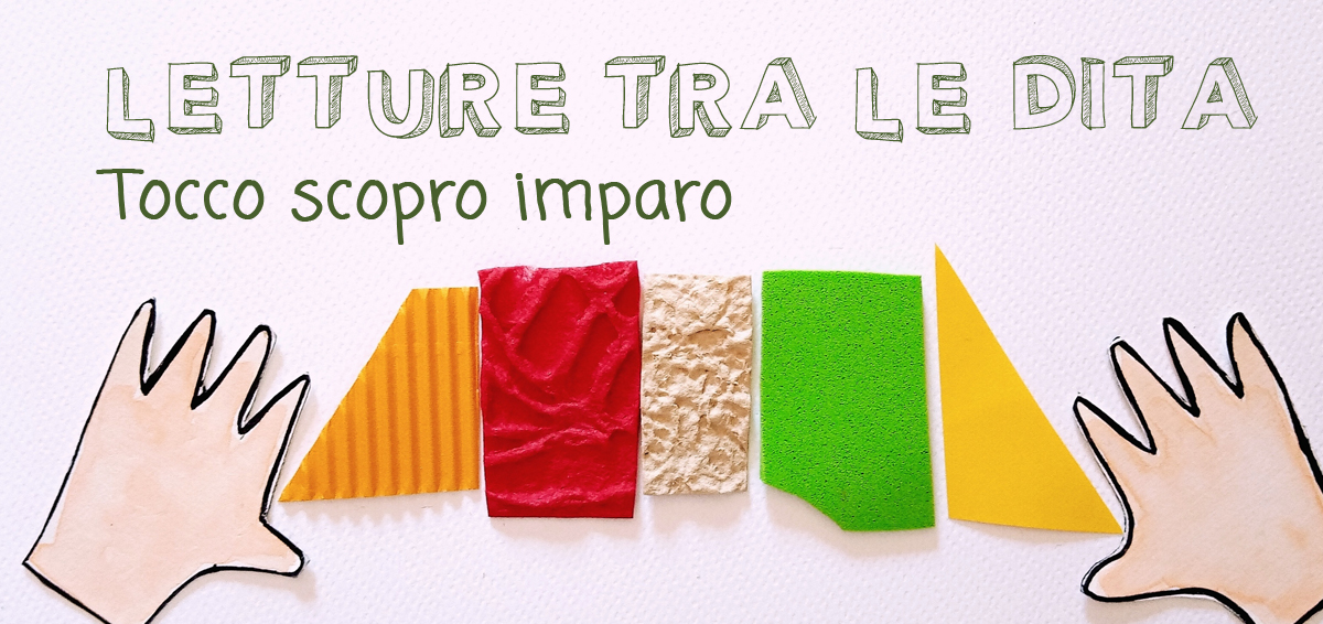 mani di carta toccano materiali diversi:carta, cartoncino e carta velina